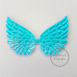 Vleugel angel wing applicatie turquoise parelmoer glans 45x70mm per stuk