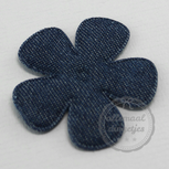Bloem applicatie denim donkerblauw 45mm
