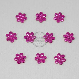 Bloem applicaties magenta metallic glans 12mm 10 stuks