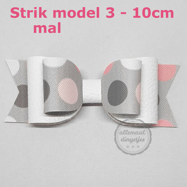 Strik mal download pdf - Model 3 - lengte 10cm