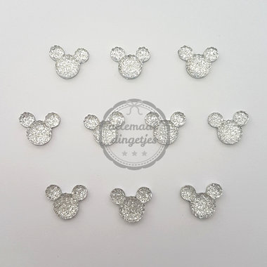 Flatbacks Mickey muis crystal bubbel 6x12mm 10 stuks
