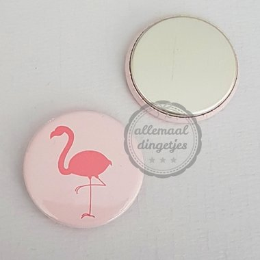 Flatback button lichtroze flamingo 25mm