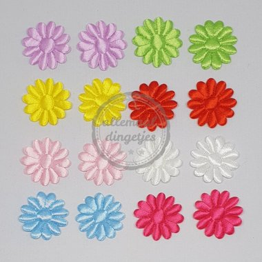 Bloem applicaties mix satijn glans daisy 30mm 16 stuks