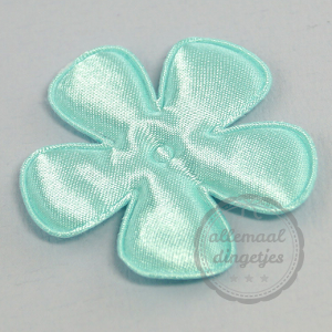 Bloem applicatie satijn blue mint licht blauwgroen 45mm per stuk