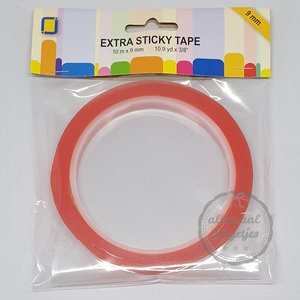Extra sticky tape dubbelzijdig 9mm breed 10 meter
