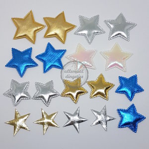 Sterren applicaties 35-40mm goud zilver blauw mix