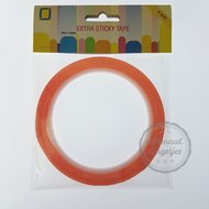 Extra sticky tape dubbelzijdig 6mm breed 10 meter